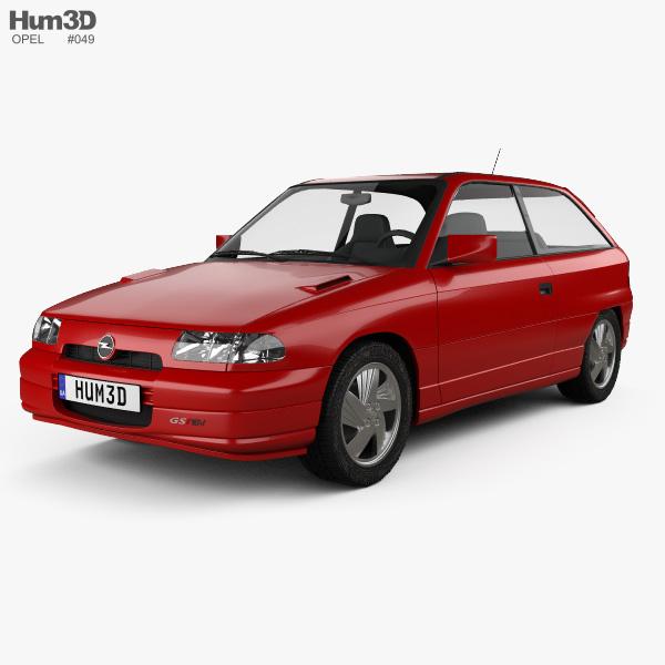 Opel Astra (F) 3-door GSi 1991 3D model