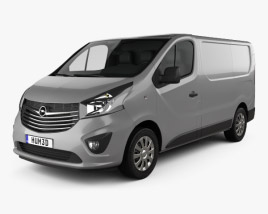 3D model of Opel Vivaro Panel Van L1H1 2014