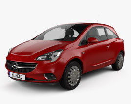 3D model of Opel Corsa (E) 3-door 2014
