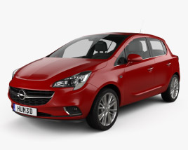 3D model of Opel Corsa (E) 5-door 2014