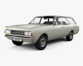 3D model of Opel Rekord (C) Caravan 1967
