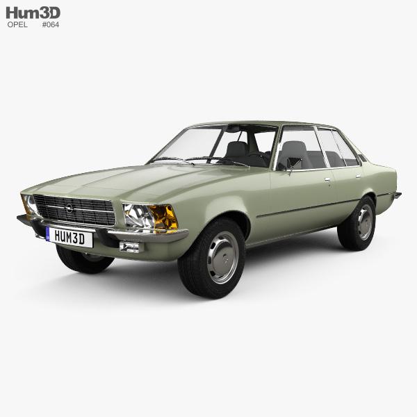 3D model of Opel Rekord (D) 1972