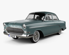 3D model of Opel Kapitan 1956