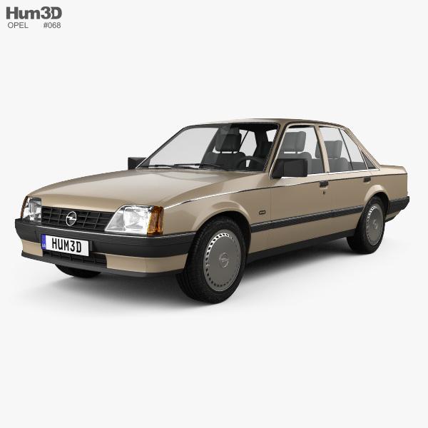 3D model of Opel Rekord 1982