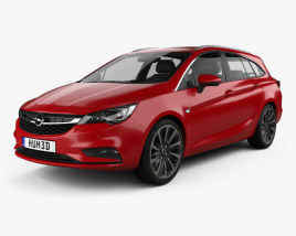 3D model of Opel Astra K Sports Tourer 2016