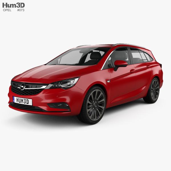 Opel Astra K Sports Tourer 2016 3D model
