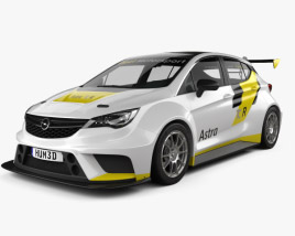 3D model of Opel Astra TCR 2016