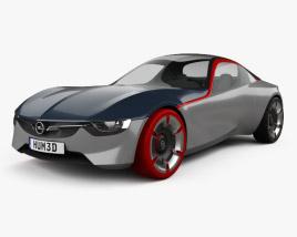 3D model of Opel GT 2016