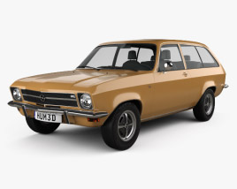 3D model of Opel Ascona A Voyage 1970