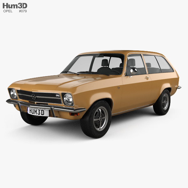Opel Ascona A Voyage 1970 3D model