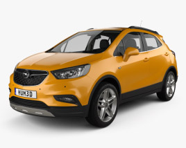 3D model of Opel Mokka X with HQ interior 2017
