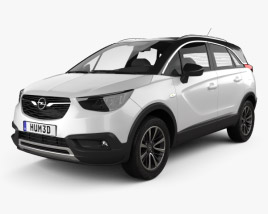 3D model of Opel Crossland X Turbo 2017