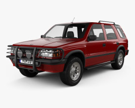3D model of Opel Frontera (A) 5-door 1992