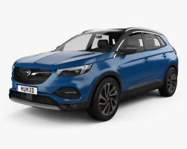 3D model of Opel Grandland X 2017
