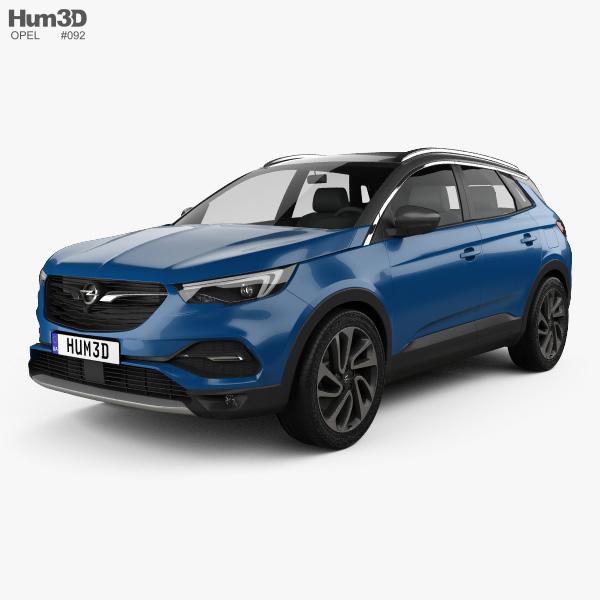 Opel Grandland X 2017 3D model