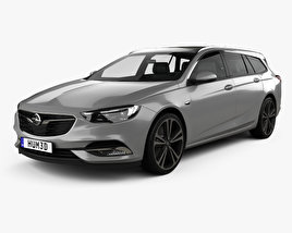 3D model of Opel Insignia Sports Tourer Turbo 4×4 2017