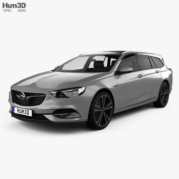 Opel Insignia Sports Tourer Turbo 4x4 2017 3D model