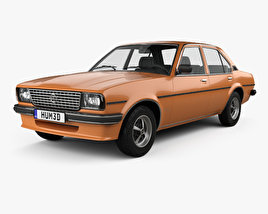 3D model of Opel Ascona berlina 1975