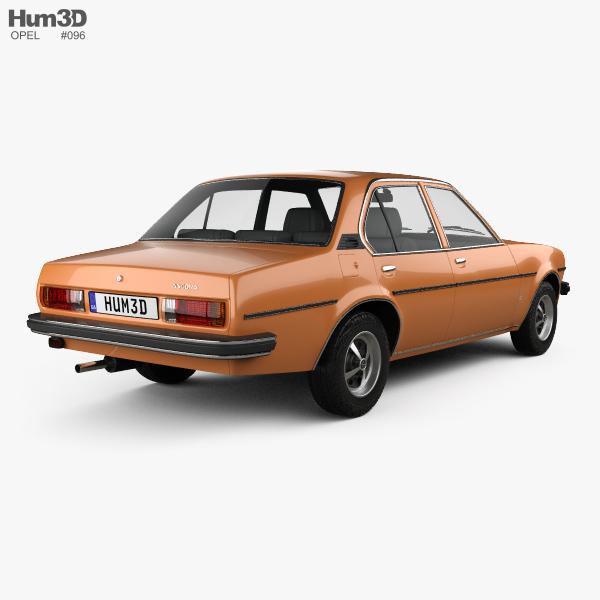 Opel Ascona berlina 1975 3D model