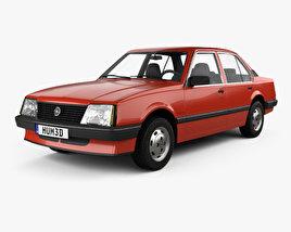 3D model of Opel Ascona sedan 1981