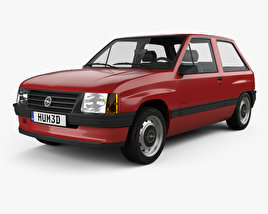 3D model of Opel Corsa 3-door 1985
