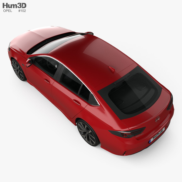 Opel Insignia GSi with HQ interior 2017 3D model
