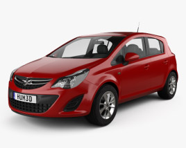 3D model of Opel Corsa Essentia 5-door 2015