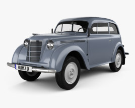 3D model of Opel Kadett 2-door sedan 1938