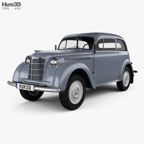 Opel Kadett 2-door sedan 1938 3D model