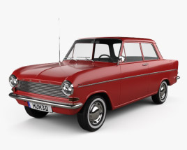 3D model of Opel Kadett 1962
