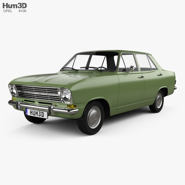 3D model of Opel Kadett 4-door sedan 1965