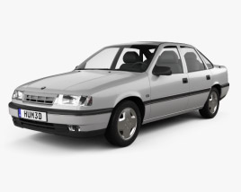 3D model of Opel Vectra sedan 1988