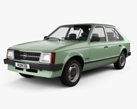 3D model of Opel Kadett 5-door 1979