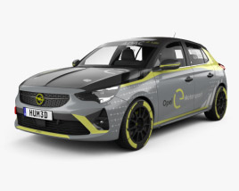 3D model of Opel Corsa e-Rally 2020