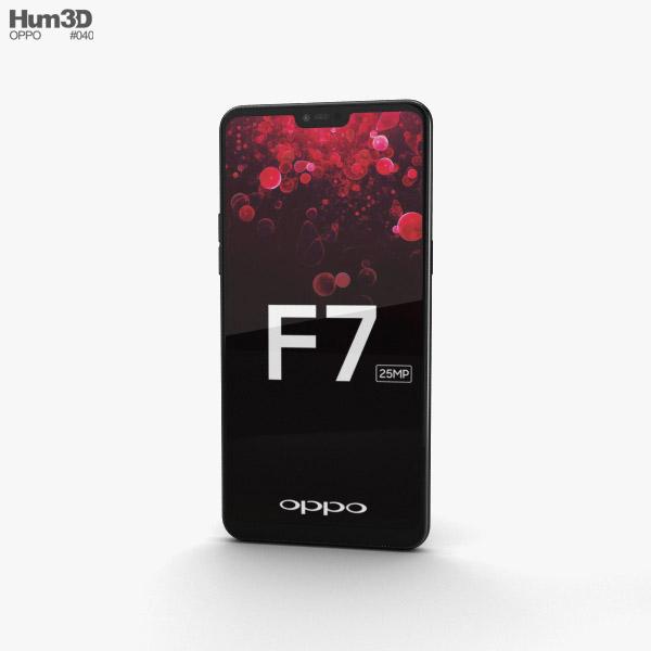3D model of Oppo F7 Diamond Black