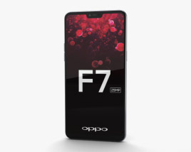 3D model of Oppo F7 Moonlight Silver