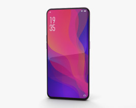3D model of Oppo Find X Bordeaux Red