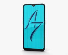 3D model of Oppo A7 Glaze Blue