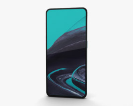 3D model of Oppo Reno 2 Ocean Blue