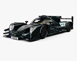 3D model of Oreca 07 LMP2 with HQ interior 2017