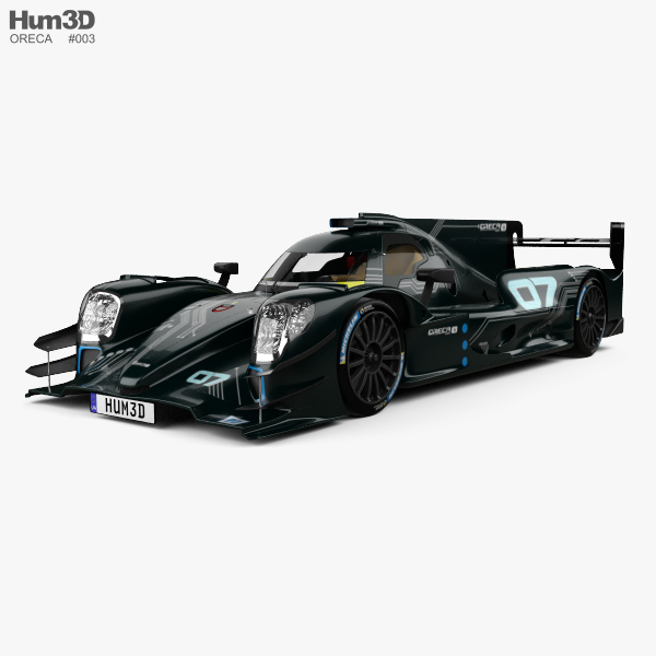 Oreca 07 LMP2 with HQ interior 2017 3D model