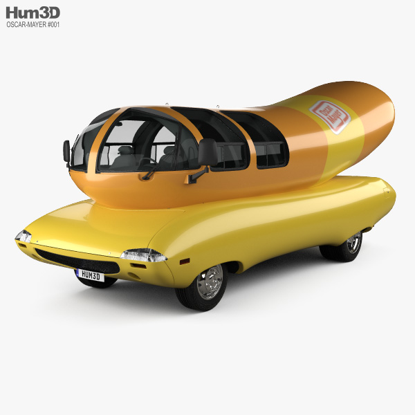 3D model of Oscar Mayer Wienermobile 2012
