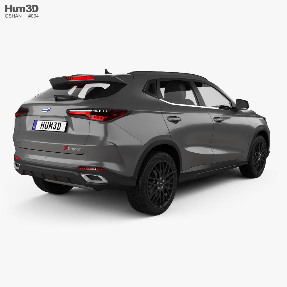Oshan X5 2021 3d model back view