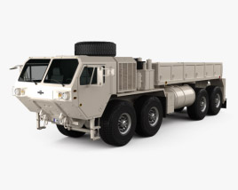 3D model of Oshkosh HEMTT M977A4 Cargo Truck 2011