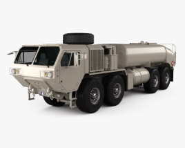 3D model of Oshkosh HEMTT M978A4 Fuel Servicing Truck 2011