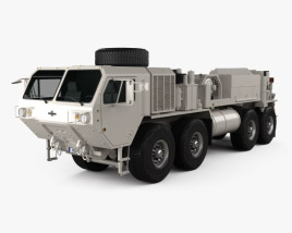 3D model of Oshkosh HEMTT M984A4 Wrecker Truck 2011