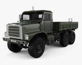 3D model of Oshkosh Terramax Flatbed Truck 2013