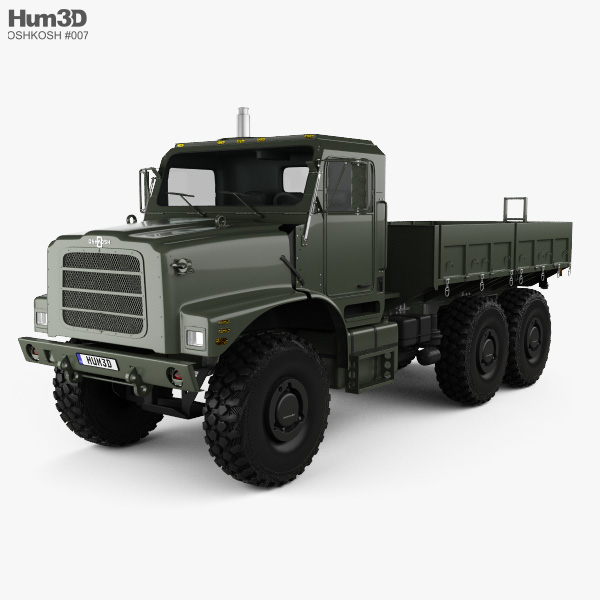 Oshkosh Terramax Flatbed Truck 2013 3D model