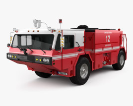 3D model of Oshkosh P19 Fire Truck 1984