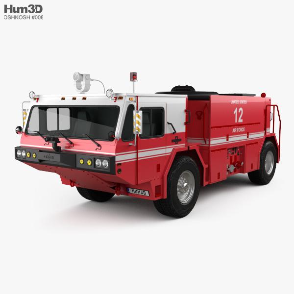 3D model of Oshkosh P19 Fire Truck 1984